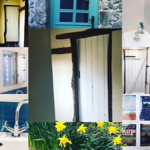 Bright Whites and Gorgeous Aquamarines in the lovely Rosemary Cottage