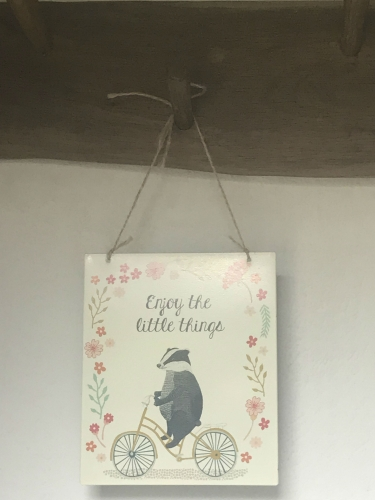 Badger Sign in Rosemary Cottage