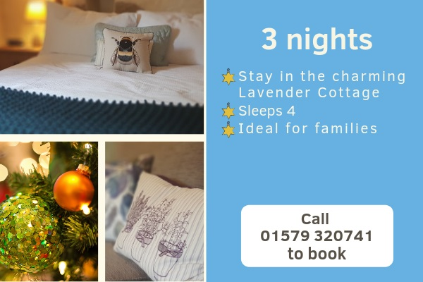 Christmas breaks at Lavender Cottage Cornwall