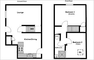 Lavender Cottage floor plan