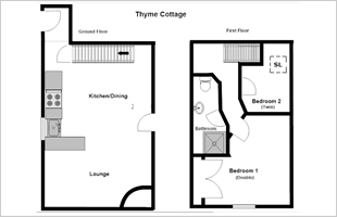 Thyme Cottage floor plan
