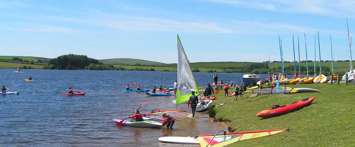 Siblyback Lake offers sailing and watersports